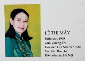 Sáng tác của Nhà thơ Lê Thị Mây